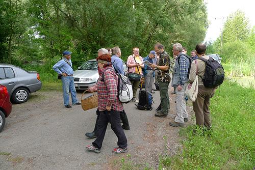 Příjezd na lokalitu NPR Křivé jezero - část účastníků