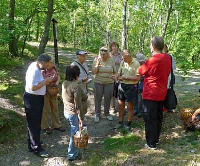 Diskuze účastníků knalezeným druhům hub... - foto: Jaroslav Landa