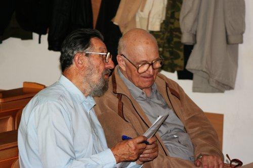 oslavenci anestoři české mykologie - vlevo František Kotlaba, vpravo Zdeněk Pouzar - foto: Jiří Burel