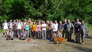účastníci na lokalitě Žilín