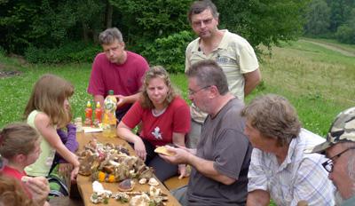 určování nalezenách hub