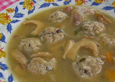 polévkové knedlíčky zrůžovek