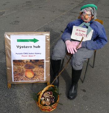 Šimbaba alias houbař Pepa, maskot výstavy, foto: A. Vít