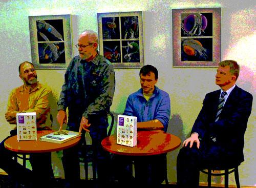 v posterizované podobě zleva: - J. Holec, A. Bielich, M. Beran, J. Padevět