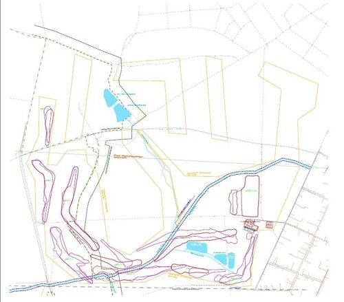 Klánovice Golf projekt, navrhovaná stavba - viz. příloha PDF
