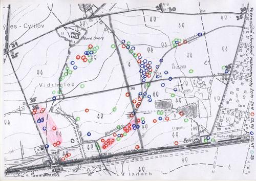Klánovice, ohrožené houby, vymapování 2011 - viz. příloha PDF