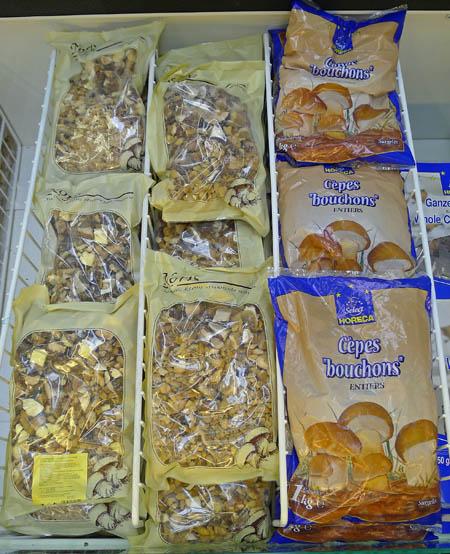 výběr zmrazených hub znabídky MAKRO - demo foto: AV
