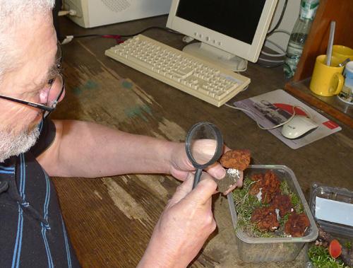 člen Ústřední houbařské poradny Petr Pumr vplné práci