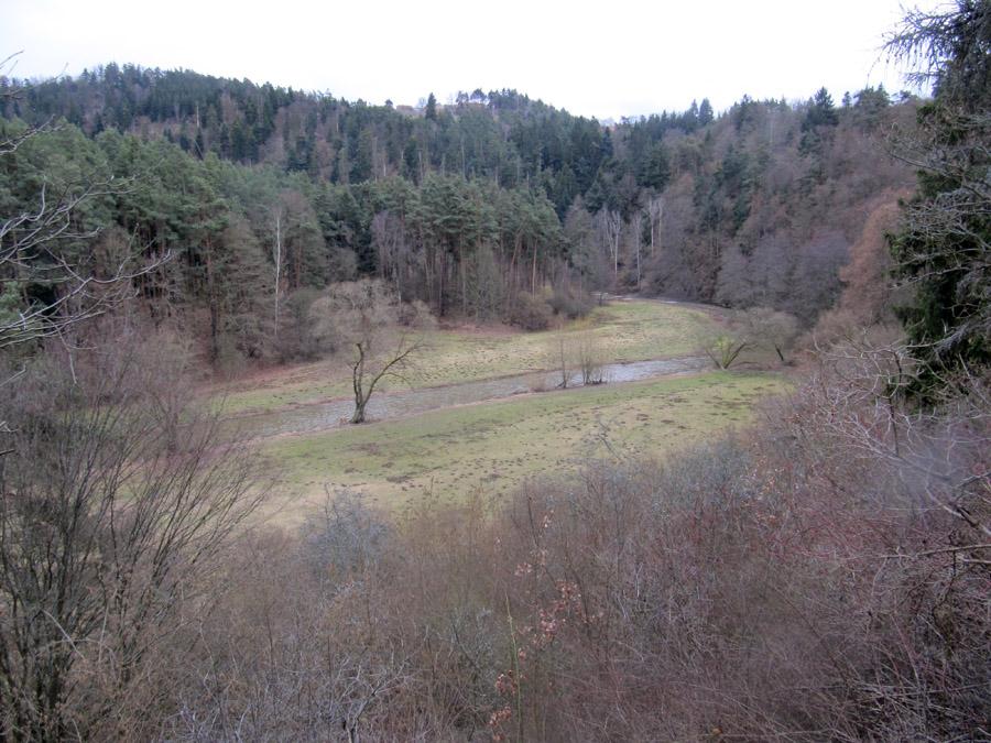 řeka Střela za běžného stavu vody