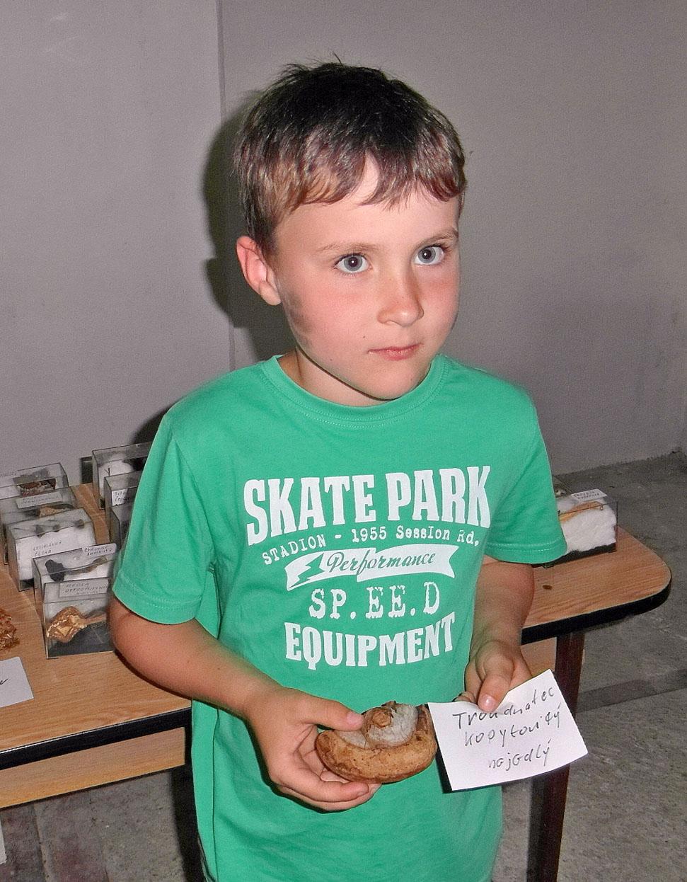také malý Pepa přispěl svým nálezem ku zdaru výstavy
