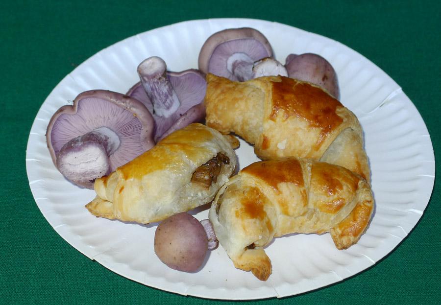 křupavé rohlíčky plněné houbami od Aleny Filípkové chutnaly opravdu znamenitě