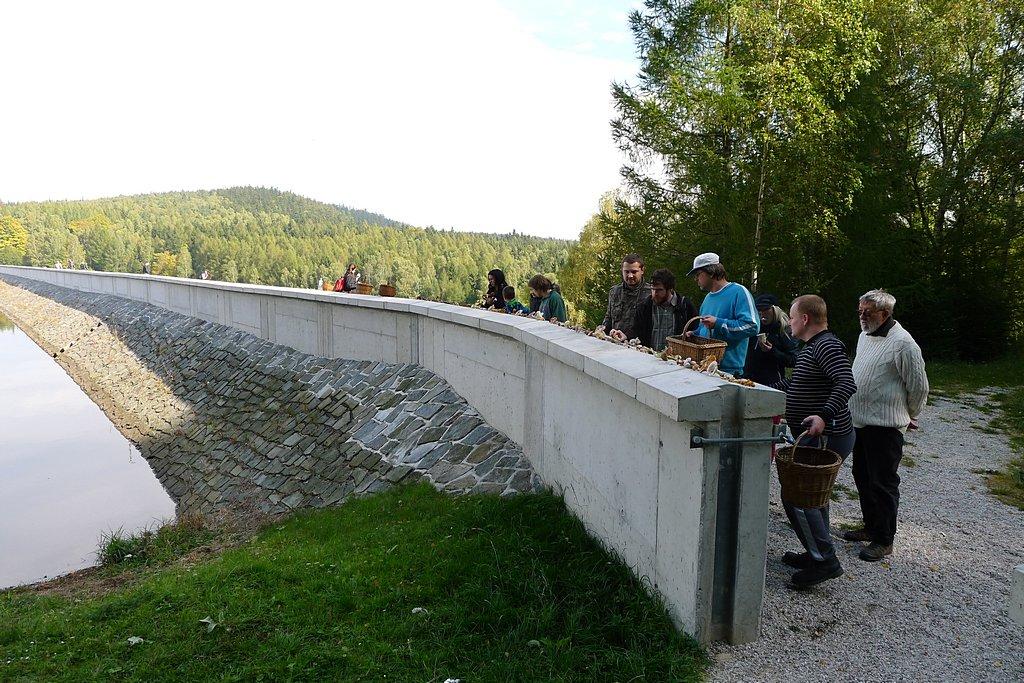 výstavka na hrázi VD Pilská - foto: Martin Kříž