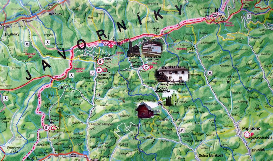 orientační mapka okolí