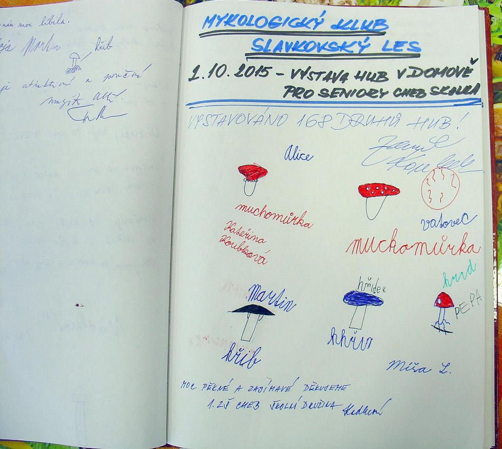 zápisky dětí vnávštěvní knize