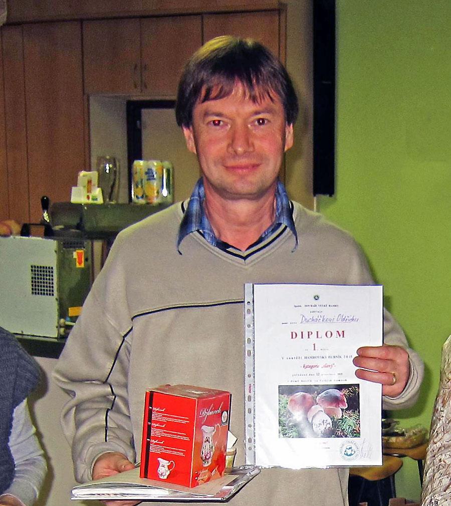 Vítěz kategorie slaných hubníků, Oldřich Ducháček